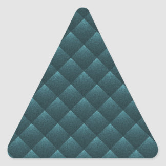 Blue Teal Quilted. Elegant Fashion Fabric Pattern Triangle Sticker