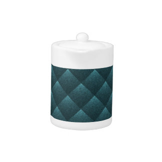 Blue Teal Quilted. Elegant Fashion Fabric Pattern