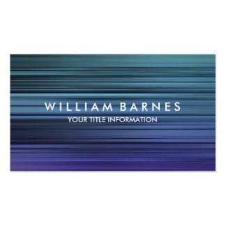 Blue Teal Stripes Business Card