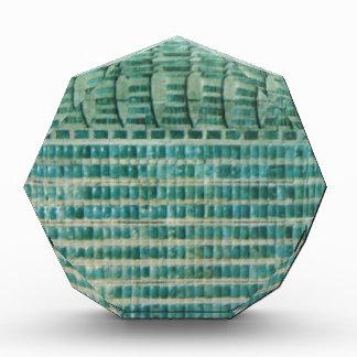 blue teal tiles acrylic award