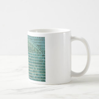 blue teal tiles coffee mug