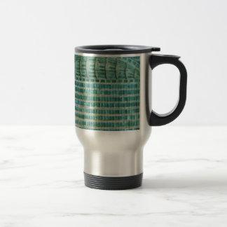 blue teal tiles travel mug