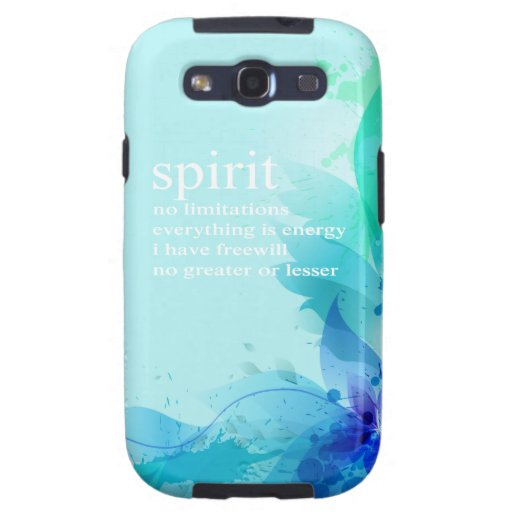 Blue Teal Watercolor Spiritual Quote Galaxy S3 Cover