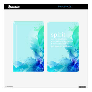 Blue Teal Watercolor Spiritual Quote Decals For Kindle Fire