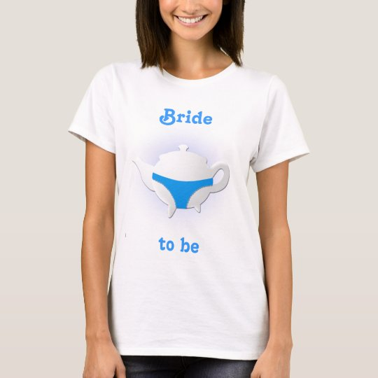Blue teapot and lingerie T-Shirt