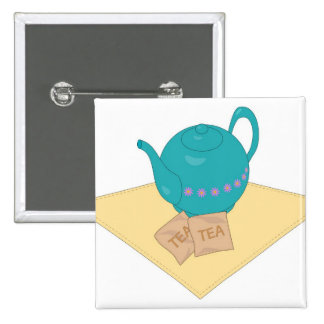 blue teapot and teabags pin