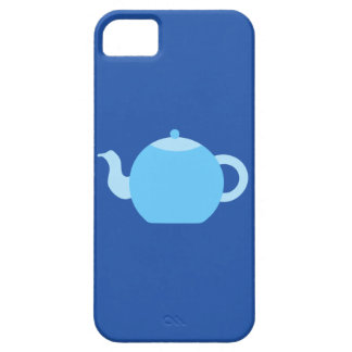 Blue Teapot on Navy Background. iPhone SE/5/5s Case