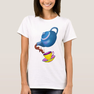 Blue Teapot with Yellow Cup and Saucer T-Shirt
