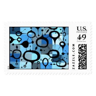 Blue Teardrops Postage Stamp
