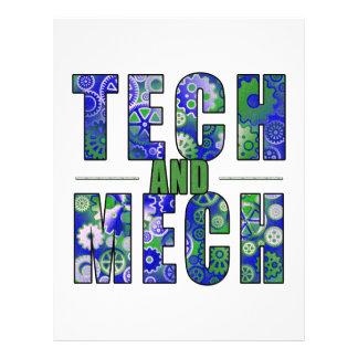 Blue Tech and Mech Flyer