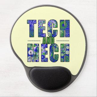 Blue Tech and Mech Gel Mousepad