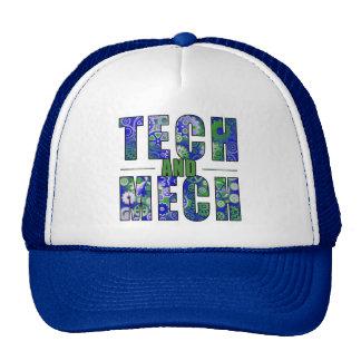 Blue Tech and Mech Trucker Hat