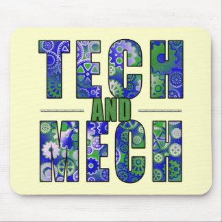 Blue Tech and Mech Mousepads