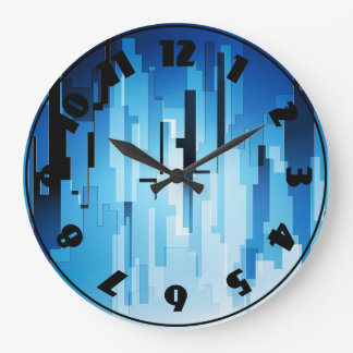 Blue Tech Art Clock