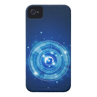 Blue tech design Case-Mate iPhone 4 cases