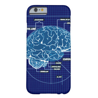Blue Techno Brain Schematic Barely There iPhone 6 Case