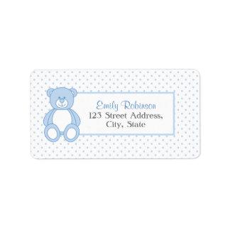 Blue Teddy Bear Address Labels