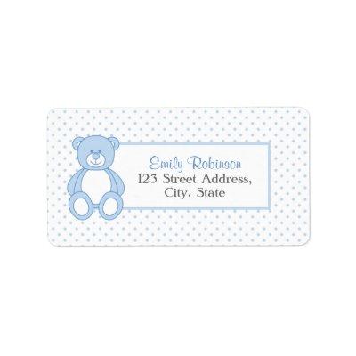teddy bear shipping address label zazzle com