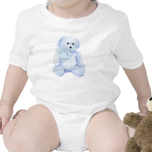 Blue Teddy Bear Baby Creeper