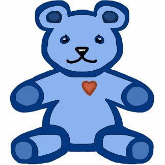 Blue teddy bear cutout