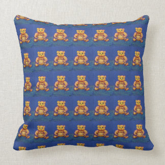 Blue Teddy Bear New Baby Shower Nursery Pillow 3