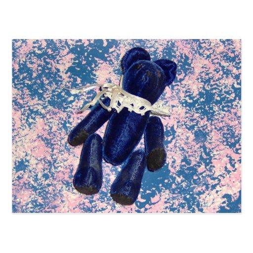 Blue Teddy Bear Postcard