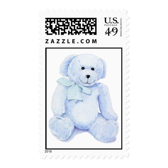 Blue Teddy Bear Stamp