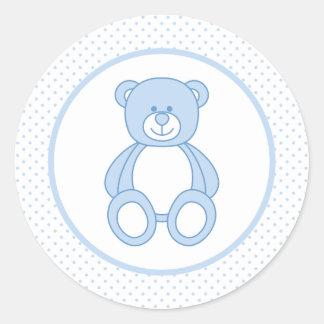Blue Teddy Bear Stickers