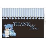 Blue Teddy Bear Thank You Card