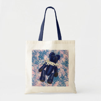 Blue Teddy Bear Tote Bag