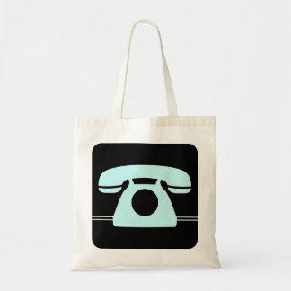 Blue Telephone Tote Bag