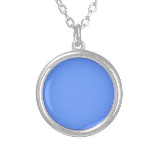 Blue Template Round Pendant Necklace