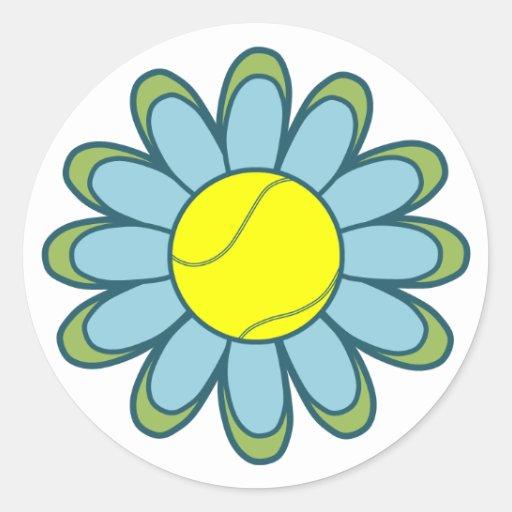 Blue Tennis Girl Sticker