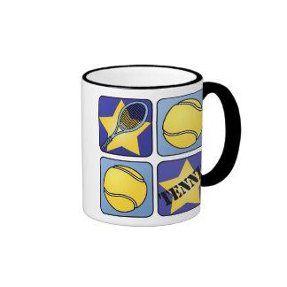 Blue Tennis Ringer Mug