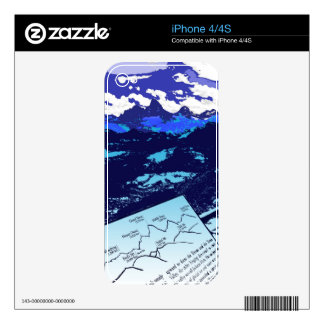 Blue tetons iphone skin iPhone 4S decals