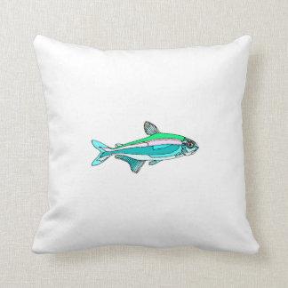 Blue Tetra Fish Pillow
