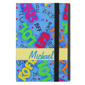 Blue Text Art Symbols Abbreviations Custom Case For iPad Mini