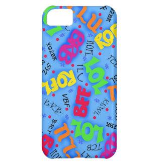Blue Text Art Symbols Abbreviations Custom Cover For iPhone 5C