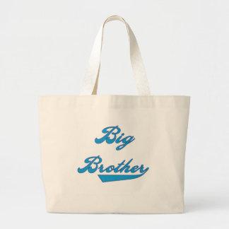 Blue Text Big Brother Canvas Bag