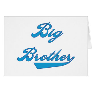 Blue Text Big Brother Card