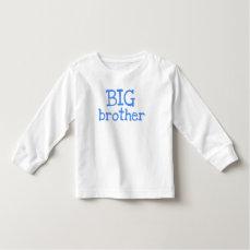 Blue Text Big Brother Toddler T-shirt