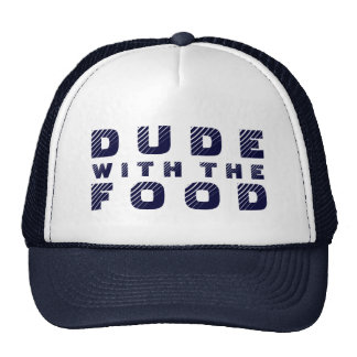 Blue Text Design Dude With The Food Trucker Hat