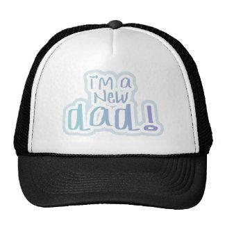 Blue Text I'm a New Dad Trucker Hat