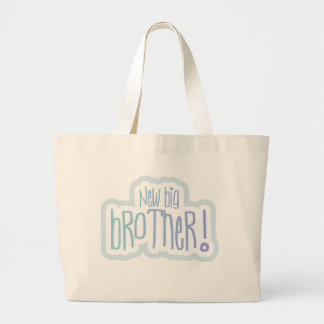 Blue Text New Big Brother Tote Bag