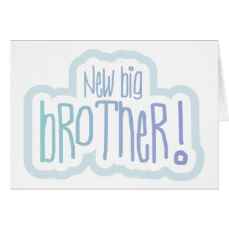 Blue Text New Big Brother Greeting Card