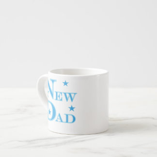 Blue Text New Dad Gifts 6 Oz Ceramic Espresso Cup