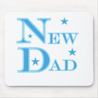 Blue Text New Dad Mouse Pad