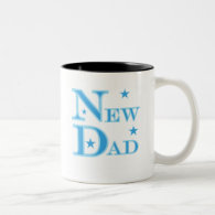 Blue Text New Dad T-shirts and gifts Mugs
