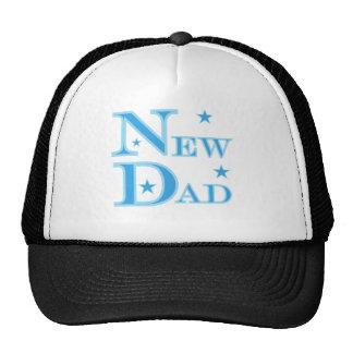 Blue Text New Dad Trucker Hat