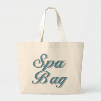 Blue Text Spa Bag Tote Bag